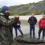 Seashore foraging on a Beginners and youth 5 day survival course on the seashore and along the coast