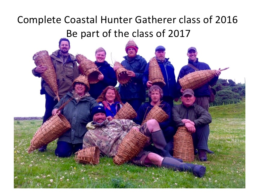 Coastal hunter gatherer bushcraft course in Scotland.