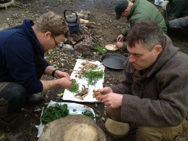 Foragers tea on a foraging and cooking course