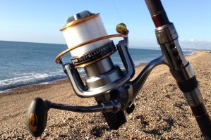Fishing courses on the beach and seashore