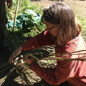 Coastal survival course skills using willow basketry