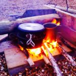 Survival courses, cooking on the beach.