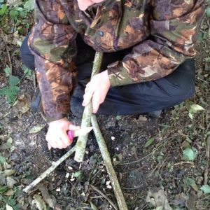Basic Bushcraft courses include using a bushcraft knife