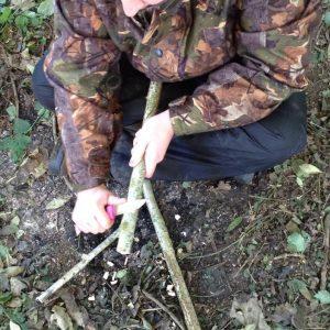 Basic Bushcraft courses include using a bushcraft knife