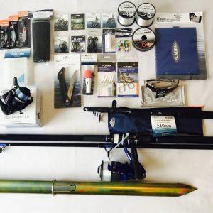 Complete coastal fishing kit, ideal for beach fishing beginners kit, from Coastal Surviva