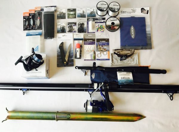Complete coastal fishing kit, ideal for beach fishing beginners kit, from Coastal Surviva
