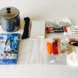 Survival mug kit used on our Coastal survivor course